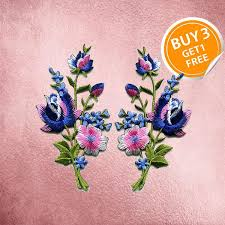 iron on blue flower patches flower patches patch iron on patch