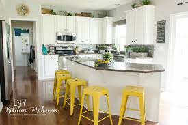 diy kitchen makeover painted white cabinets are easier than i