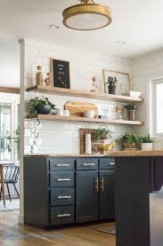 kitchen dazzling open kitchen shelves copper and wood are great