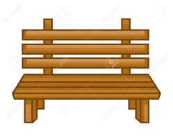 Wooden Park Bench Wooden Bench Isolated Illustration On White Background Royalty