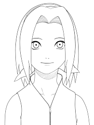 naruto sakura lineart by jane in the box on deviantart