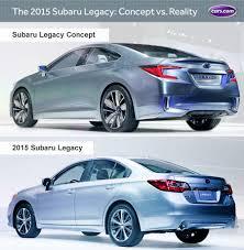 subaru car legacy 2015 subaru legacy concept vs reality news cars com