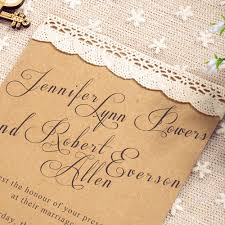 simple wedding invitations affordable simple country lace wedding invitations ewls021 as low