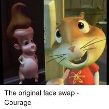 Meme Faces Original Pictures - the original face swap courage face swap meme on me me