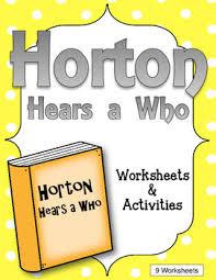 horton hears worksheets activities dr seuss tpt