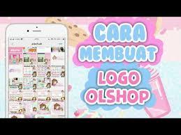 cara membuat logo online shop cara bikin logo olshop premium pake hp diy tutorial buat logo
