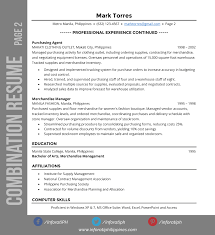 example of combination resume resume types by format inforati philippines combination resume types by format page 2