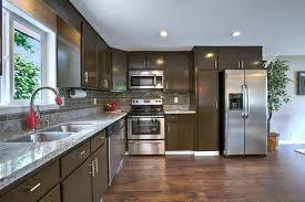 Traditional Kitchen With Hardwood Floors U0026 Complex Granite