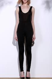 black sleeveless jumpsuit solid color scoop neck sleeveless jumpsuit for