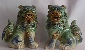 japanese guard dog statues water oak aikikai shisa