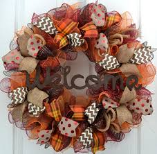 thanksgiving reefs welcome fall wreath mesh thanksgiving wreath thanksgiving