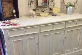 chic distressed buffet sideboard