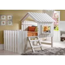 amazon com donco kids twin cabana youth loft bed kitchen u0026 dining