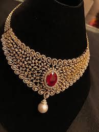 bridal necklace images Ruby bridal necklace indian wedding jewellery pinterest jpg