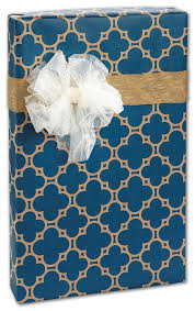 quatrefoil wrapping paper quatrefoil navy kraft brown gift wrap paper bulk size large 30