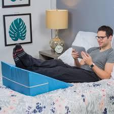 dmi foam bed wedge elevating leg rest back support pillow blue