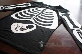 Glow In The Dark Halloween Shirts by Our Last Minute Costumes Pregnant Skeleton And Matching