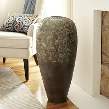 scroll leaves terracotta floor vase pier 1 imports pier 1
