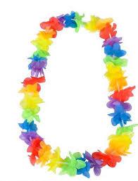 flower leis rainbow flower hawaiian leis z novelties