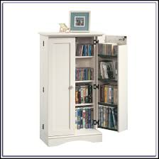 furniture sauder harbor view bookcase with doors antique white