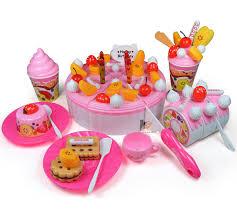 jeux de simulation de cuisine 73 pcs enfants cuisine jouet gâteau d anniversaire jouets jeux de