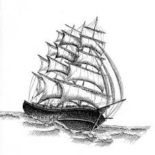 18th century pirate ship drawing sketch coloring page