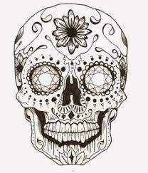 candy skull candy skulls metallic and tattoo