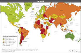 Picture Of A World Map by Download Index Of Economic Freedom Data Maps And Book Chapters