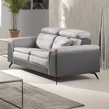 canap deux places relax petit canapé gris relaxation electrique sofamobili