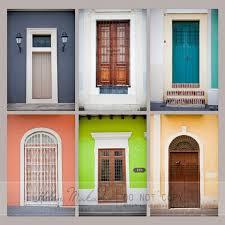Photography Home Decor Collection Of Six Doors Old San Juan Doors Colorful Yellow