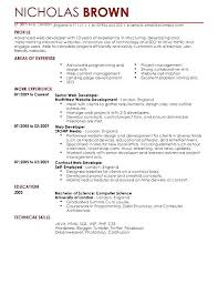 computer science resume template sle web developer resume musiccityspiritsandcocktail
