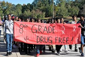 parade ribbon kendrick middle celebrates ribbon week with parade features