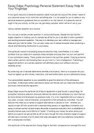 Statement Of Purpose Essay Sample Essay Edge Psychology Personal Statement Essay Help At Your Fingerti U2026