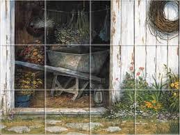 Kitchen Backsplash Mural Stone by Country Rustic Farm Old Faithful Kitchen Backsplash Tile Murals