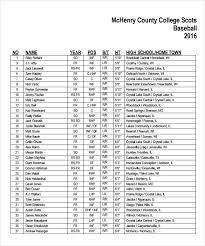 sample baseball roster template roster template moa format