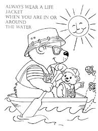 water safety coloring pages free printable water safety coloring