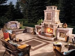 stylish design outdoor wood burning fireplace kits stoneage