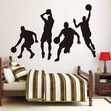 popular stadium wall murals buy cheap stadium wall murals lots a group of basketball team diy wall decals for boys bedroom decorative vinyl wall stickers home