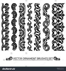 ornament nouveau style set vector stock vector 240786349