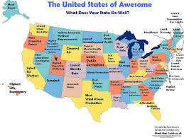 Us Map Image What Every State In America Is Best At U2014 And Worst At Big Think
