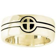 christian wedding bands 14k gold coordinating christian wedding bands men s