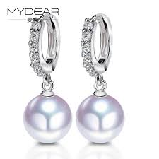 pearl diamond earrings mydear gold pearl diamond earrings earrings woman trends