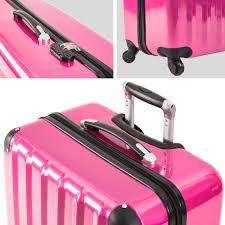 Esszimmerst Le B Ware Polycarbonat Reisekoffer Trolley Kofferset Hartschalenkoffer Pink