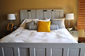 How To Make Your Own Headboard And Footboard Furniture Inspiring Homemade Headboards For Wonderful Bedding