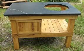 Green Egg Kitchen - big green egg table w soapstone top asheville kitchen tops