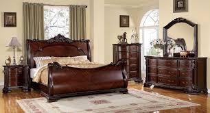 furniture of america bellefonte bedroom set brown cherry fininsh