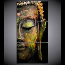 3 panel buddha abstract wall art buddha zing