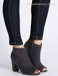 womens navy boots australia australia t025885a womens boots block heel side zip peep toe