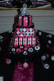 wedding cakes wi wedding cakes pink black silver tamara s cakes oshkosh wi