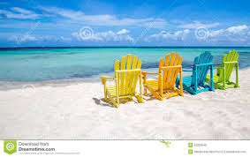 Teal Colored Chairs by Caribbean Beach Chairs Stock Photo Image 52202640
